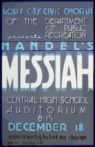 Sioux City Civic Chorus Of The Department Of Public Recreation Presents Handel S  Messiah  Clip Art