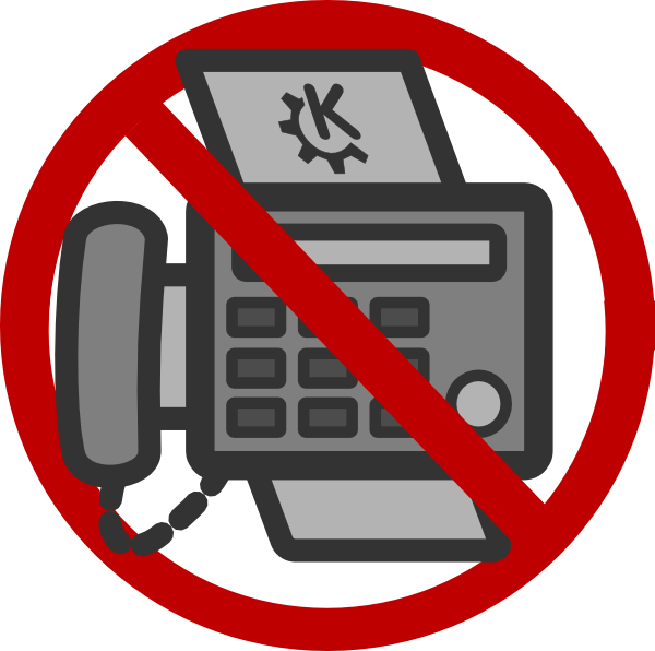 Image result for no fax clipart