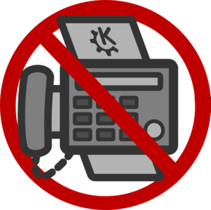 No Faxing Clip Art