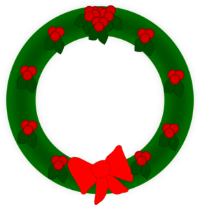 Holiday Wreath Clip Art
