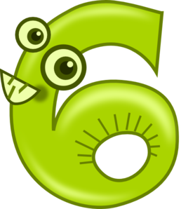 Animal Number Six  Clip Art