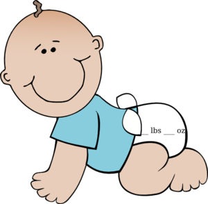 Light Blue Baby Boy  Clip Art