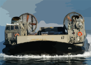 A Landing Craft Air Cushion (lcac) Craft On Approach To The Amphibious Assault Ship Uss Kearsarge (lhd 3) Clip Art