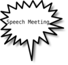 Speech Meeting Clip Art