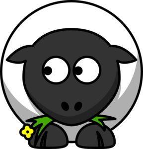 Sheep Looking Left Clip Art