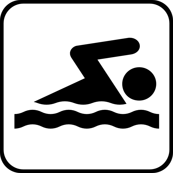 Olympic swimming icon