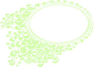 Green Flower Frame Clip Art