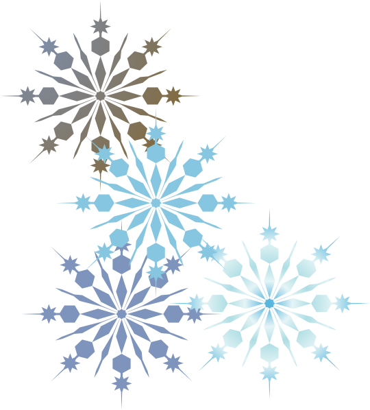 snowflakes 2 clip art at clker com vector clip art online royalty rh clker com snowflake border clipart black and white snowflake corner border clipart