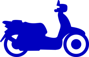 Bluw Scooter Clip Art