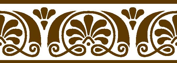 Victorian Pattern Brown Clip Art at Clker.com - vector ...