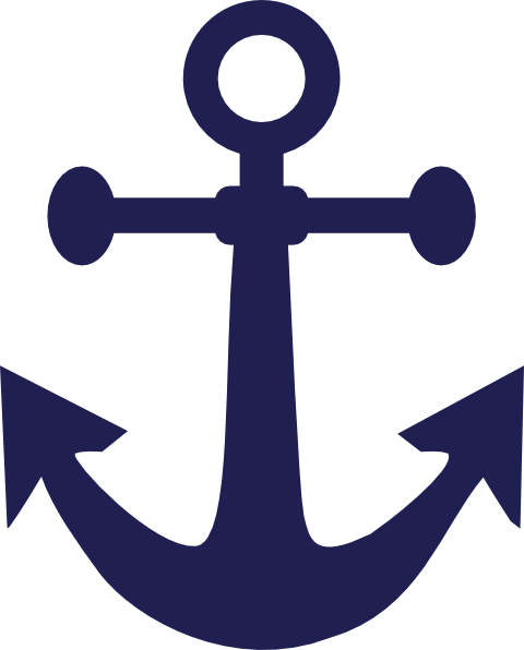 Anchor Blue Art Clip Art at Clker.com - vector clip art ...
