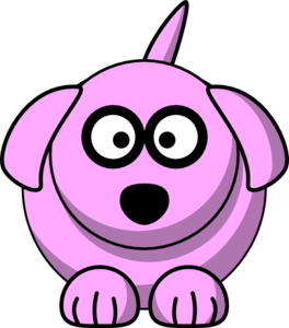 Pink Cartoon Dog Clip Art