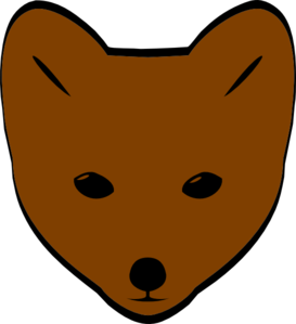Brown Fox Face Clip Art