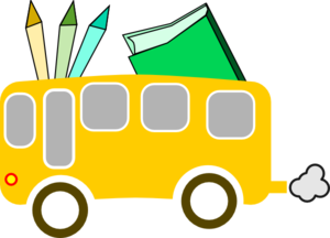 Back To Scool Yellow - Bus Ecole Jaune Clip Art