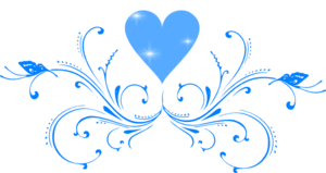 Blue Butterfly Scroll Clip Art