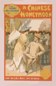 Messrs. S.s. Shubert & Nixon & Zimmerman S Production Of A Chinese Honeymoon By George Dance & Howard Talbot. 3 Clip Art