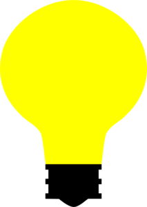 Simple Light Bulb Clip Art