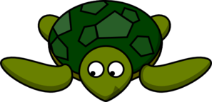Turtle Looking Left-down Clip Art