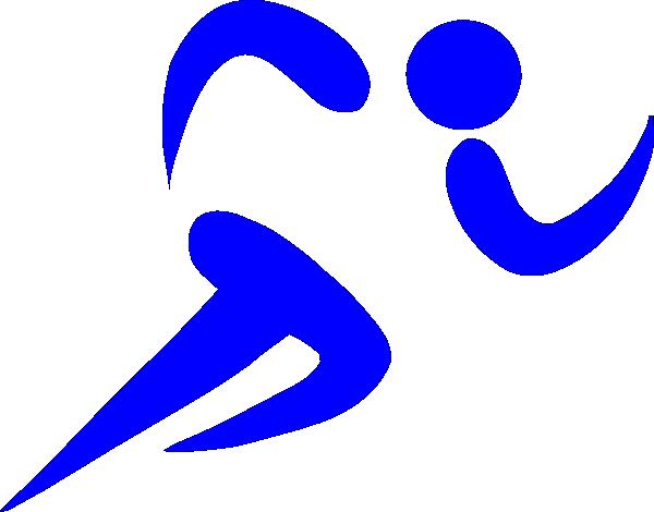 Blue Athlete Clip Art at Clker.com - vector clip art online, royalty ...