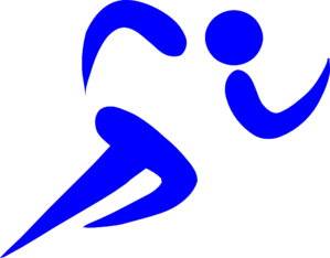Blue Athlete Clip Art