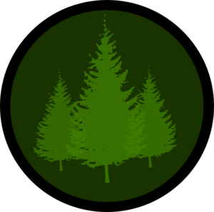 Evergreen Symbol 1 Clip Art