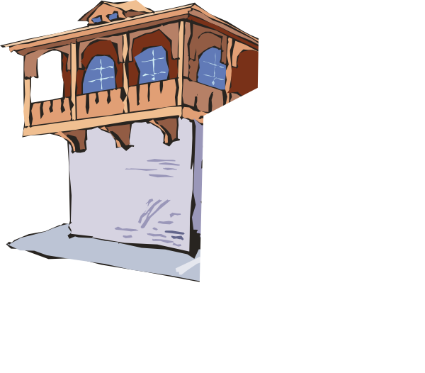 just the balcony part clip art at vector clip