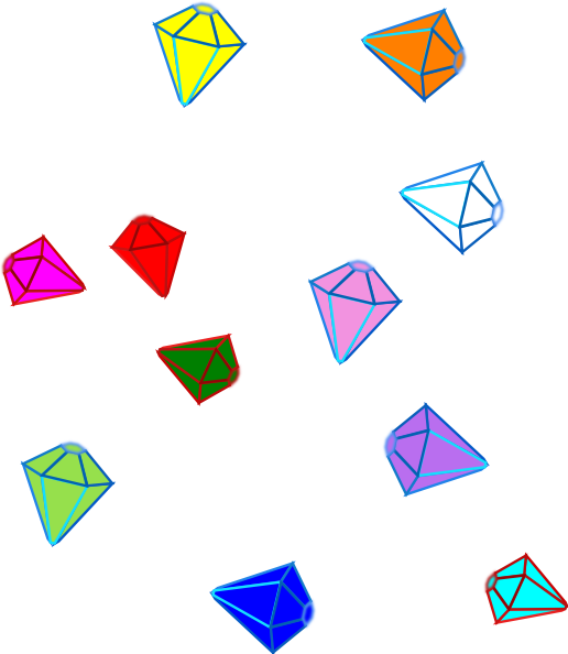 Scattered Gems Clip Art at Clker.com - vector clip art online, royalty ...