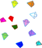 Scattered Gems Clip Art
