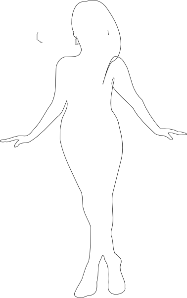 Curvy woman silhouette