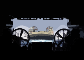 Lcac Returns From Mission Ashore Clip Art