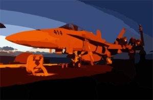 F/a-18 Maintenance Check Clip Art