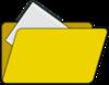 Folder With File Icon clip art