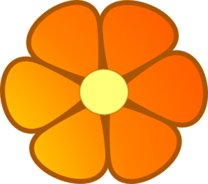 Orange Blossom Note Services Clip Art