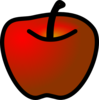 Red Apple2 Clip Art