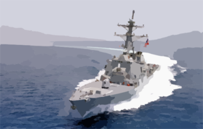 Uss Curtis Wilbur (ddg 54) Underway Clip Art
