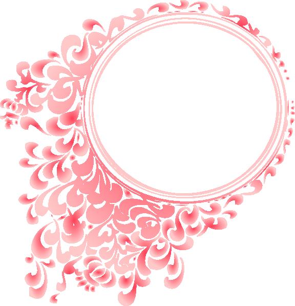 Pink Gradient Round Border clip art