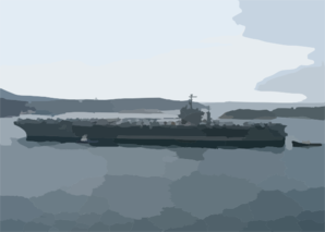 The Aircraft Carrier Uss Theodore Roosevelt (cvn 71) Prepares For A Port Visit In Souda Bay, Crete, Greece Clip Art