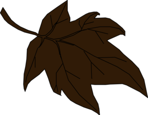 Dark Brown Autumn Leaf Clip Art