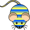 Striped Mouse Clip Art