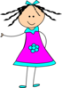 Little Happy Girl Clip Art