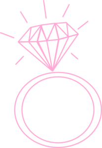 Diamond Ring-pinkonblack Clip Art