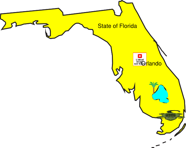 Clip Art Of State Fl : State of florida school project clip art at clker
