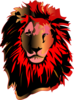 Lion, Red Head Clip Art