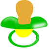 Green And Yellow Pacifier Clip Art