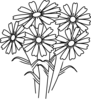Coloring Book Flowers Clip Art