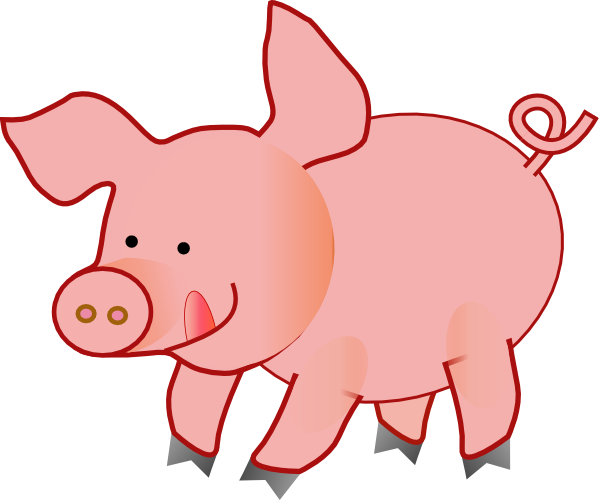 free clip art pink pig - photo #2