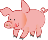 Pink Happy Pig Clip Art