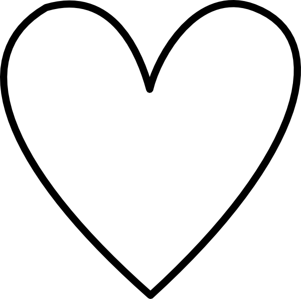 Line Art Heart Outline : White heart outline clip art at clker vector