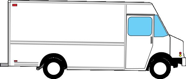 Food Truck Outline White Box Clip Art