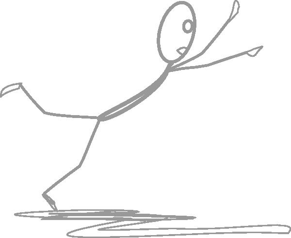 Grey Stickman Falling 2 Clip Art at Clker.com - vector ...